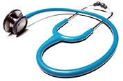 Picture of a stethoscope.